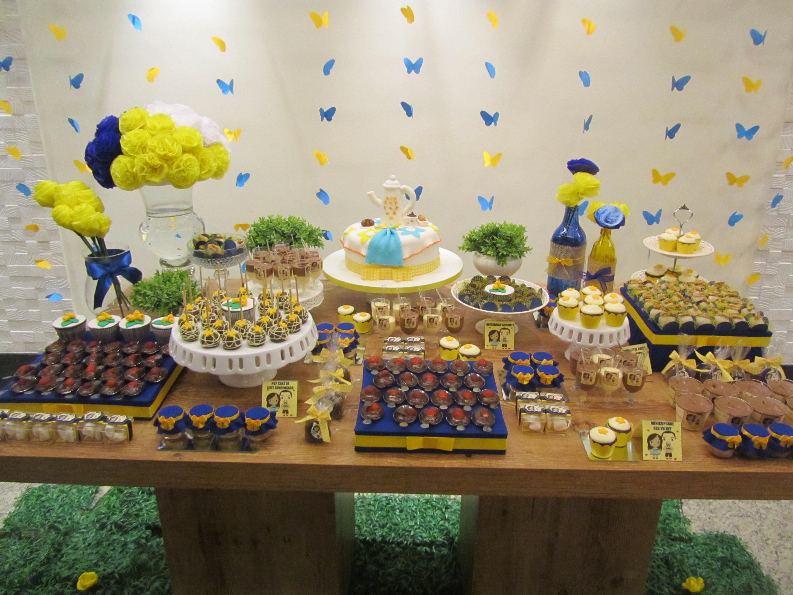 decoracao de igreja azul e amarelo : decoracao de igreja azul e amarelo:Chá de Cozinha Amarelo e Azul!